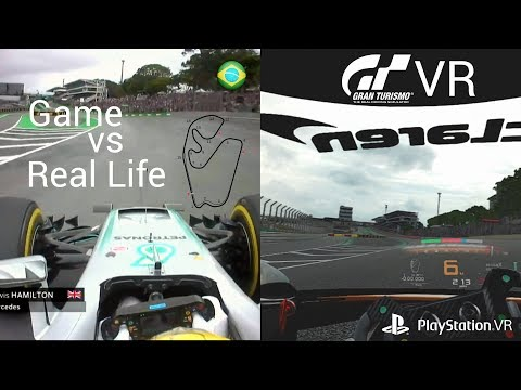 GT Sport VR Trying to Beat F1 Lap Lewis Hamilton Brazil