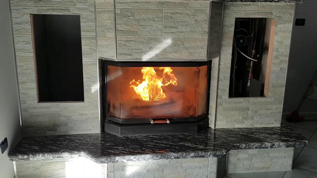Termocamino ftl prismatico mery combinato legna pellet for Ftl termocamini