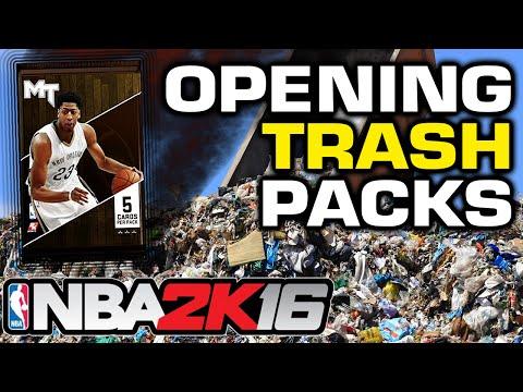NBA2K16 - Trash Pack Opening! Looking for Runes!