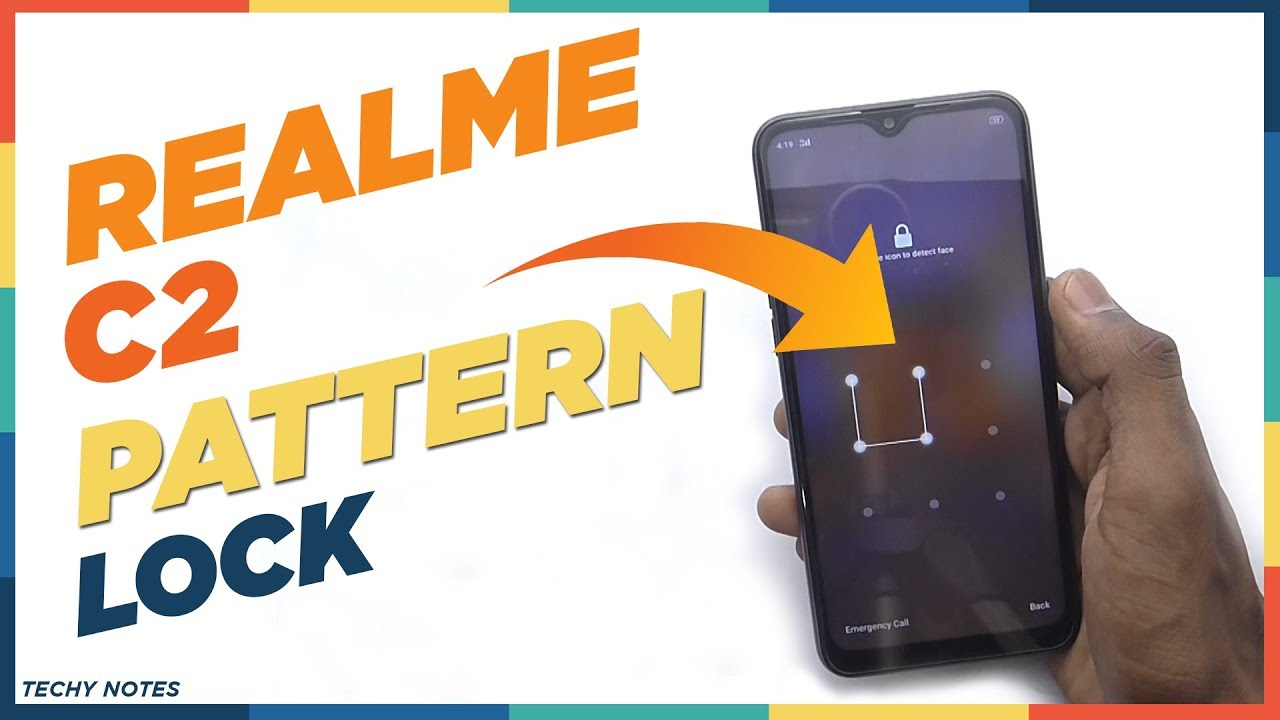 How To Set Pattern Lock In Realme C2 Youtube