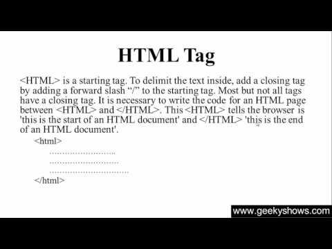 4. HTML Tag In HTML (Hindi)