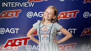 Interview: Ansley Burns Remembers The First Time She Stepped On Stage! - America's Got Talent 2019