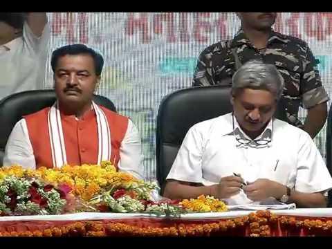 Shri Manohar Parrikar addresses Public Meeting in Gomti Nagar Lucknow, Uttar Pradesh