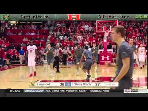 America East Championship - (3) Vermont at (1) Stony Brook (3/12/16)
