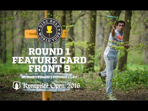 Konopiste Open Round 1 Feature Card Front 9 (McBeth, Filandr, Piironen, Lätt)