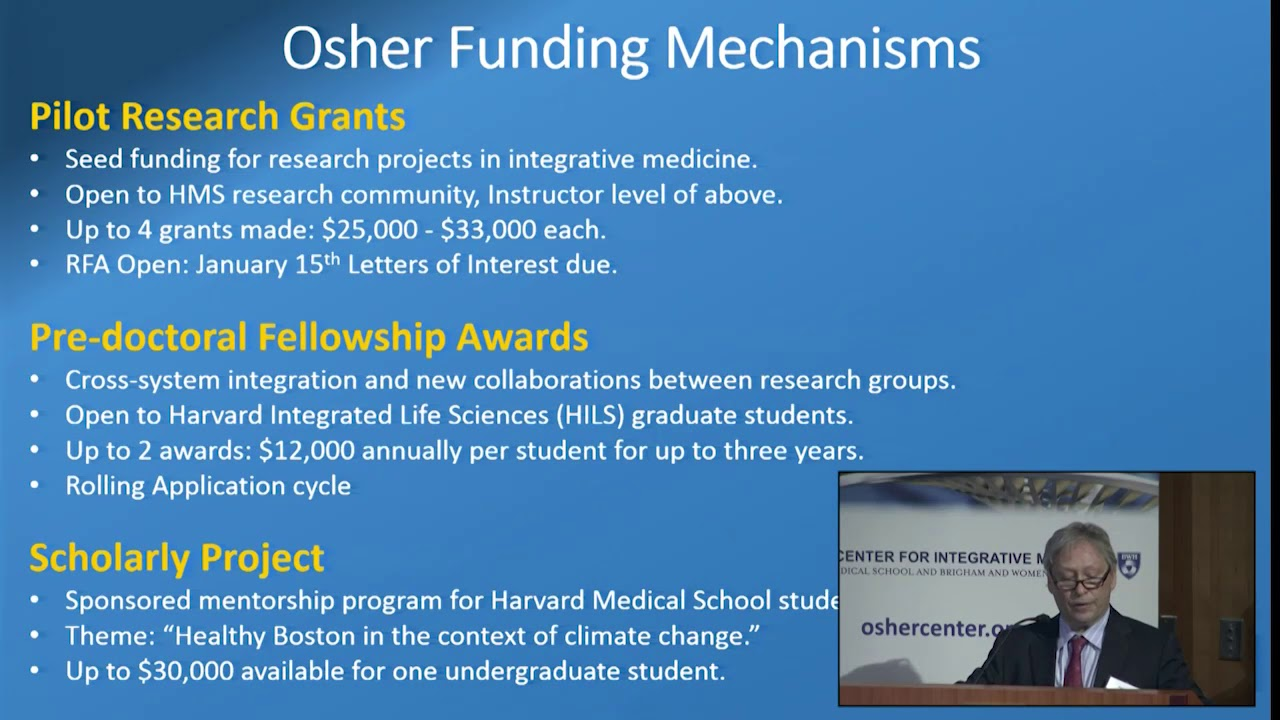 Funding Opportunities - Osher Center For Integrative Medicine