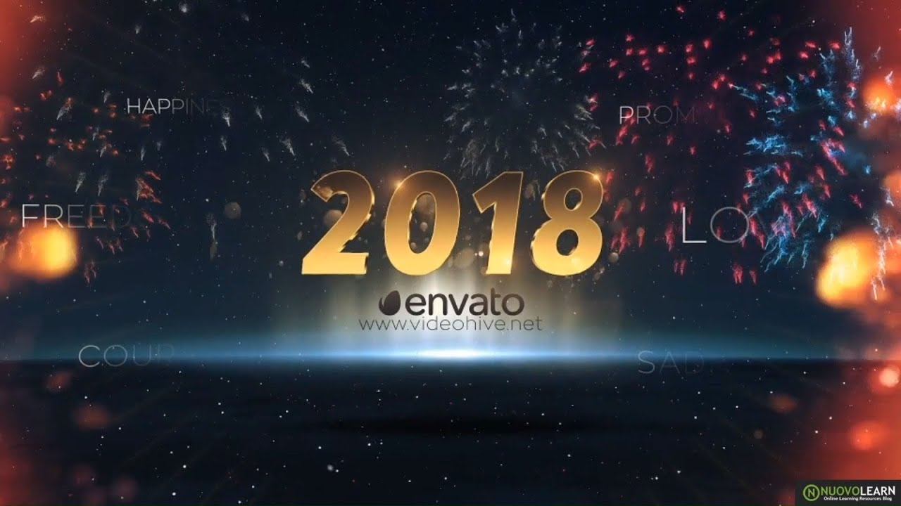 5 awesome after effects templates for happy new year 2018