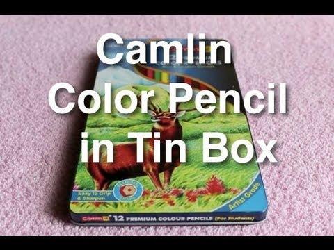 Camlin Color Pencil In Tin Box Youtube - Premium-color-pencils