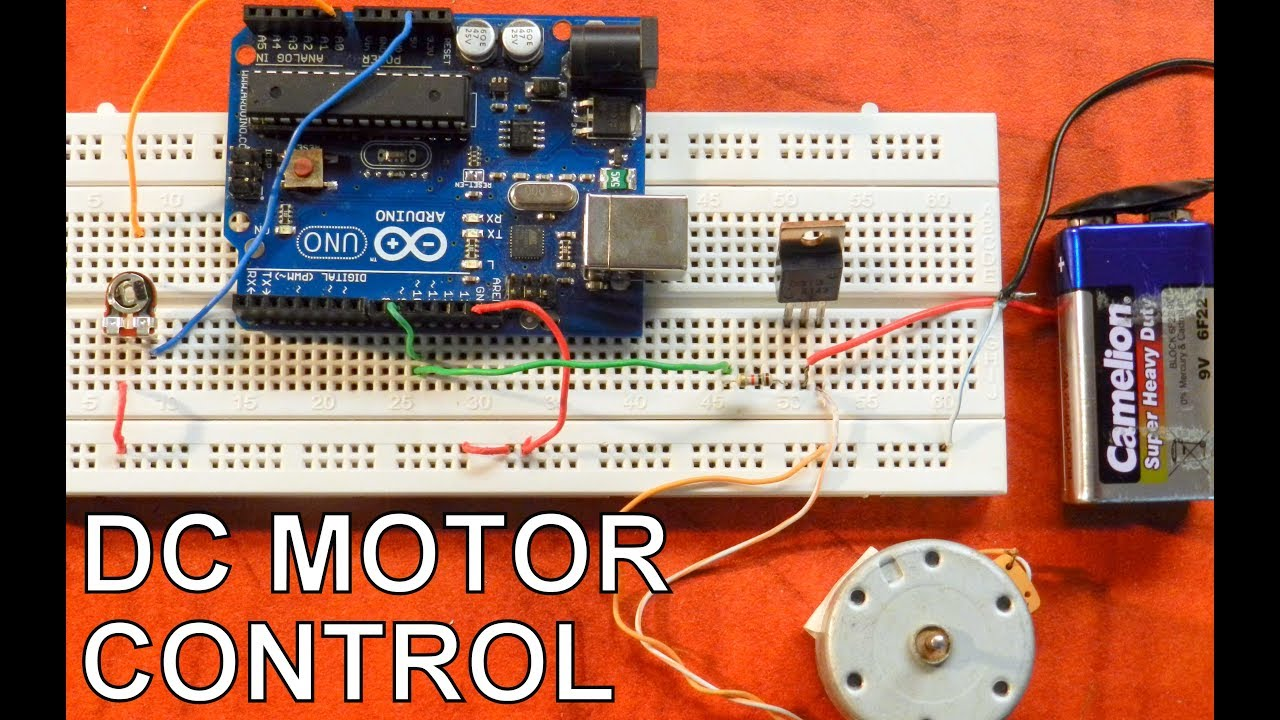 Controlling Dc Motor Speed Using Arduino Pwm Tutorial Youtube This Circuit It Is Possible To Control The Of Motors