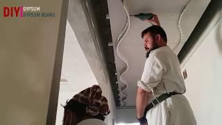 hanging drywall for beginners || drywall installation      DIY GYPSUM & GYPSUM BOARD