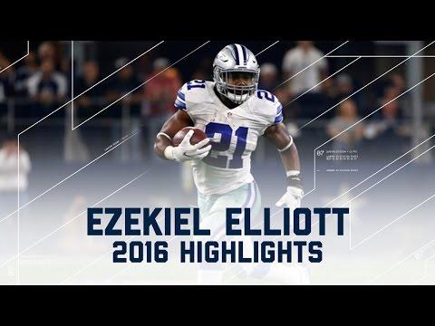 Ezekiel Elliott's Record-Breaking First 10 Games (2016 Highlights) | NFL