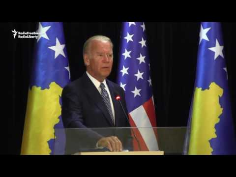 Biden In Emotional Visit To Kosovo