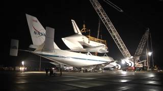 Discovery De-Mated from Shuttle Carrier