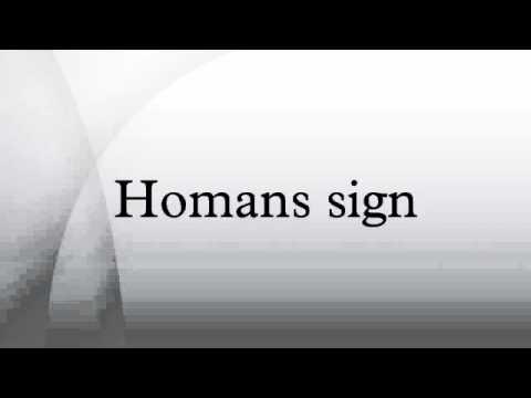 Homans sign - YouTube
