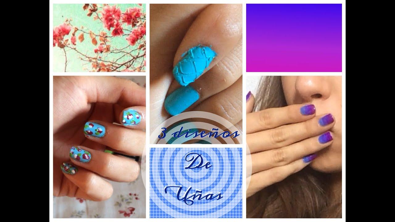 Diseños de uñas para verano - YouTube