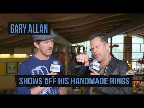 Gary Allan Shows Off Handmade Jewelry
