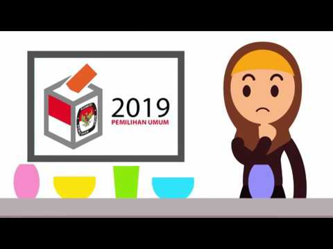 Cara mencoblos DPR RI 2019  yang Benar