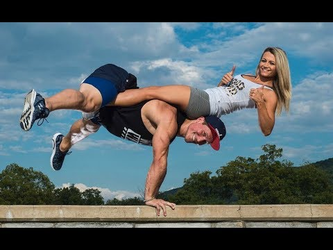 Best Fitness Couple Workout ♥ RelationShip goals ♥ - Working Out Everywhere & Every Time