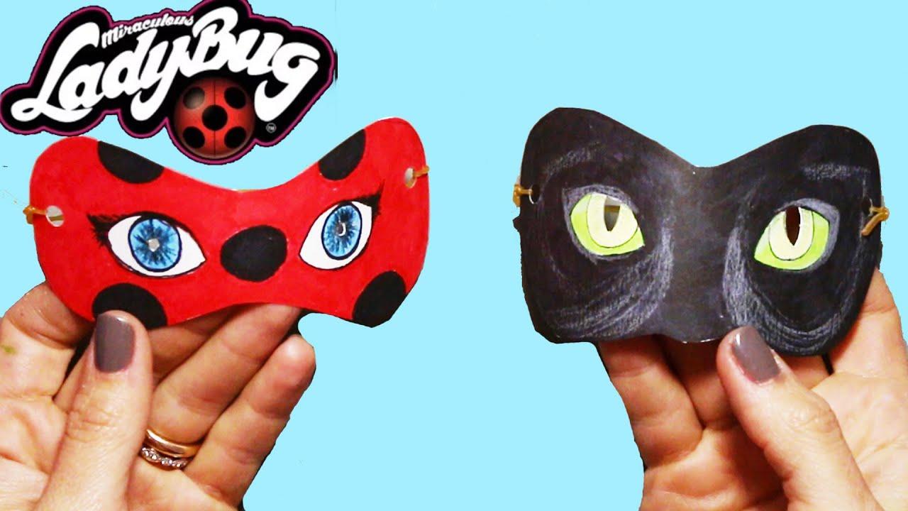 Como Fazer Mascara Da Miraculous Ladybug E Do Cat Noir Boya Boya