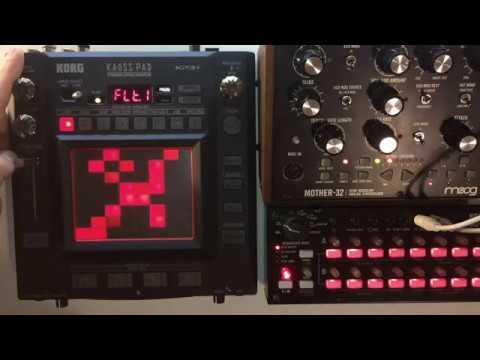 Kaosspad 3 KP3+ & Moog Mother 32 - DEMO