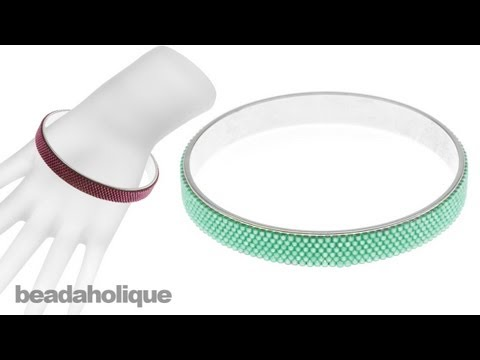 How to Cover a Channel Bangle with Bead Weaving