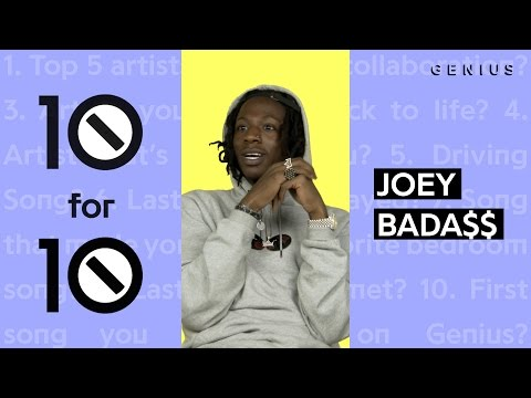 Joey Bada$$ Admits J. Cole & Solange's Music Made Him Cry | 10 For 10