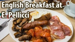 English Breakfast at E. Pellicci in London