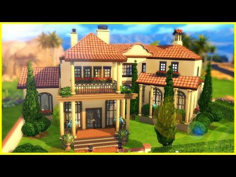 FANCY SPANISH HOME![ The Sims 4 House Building ]