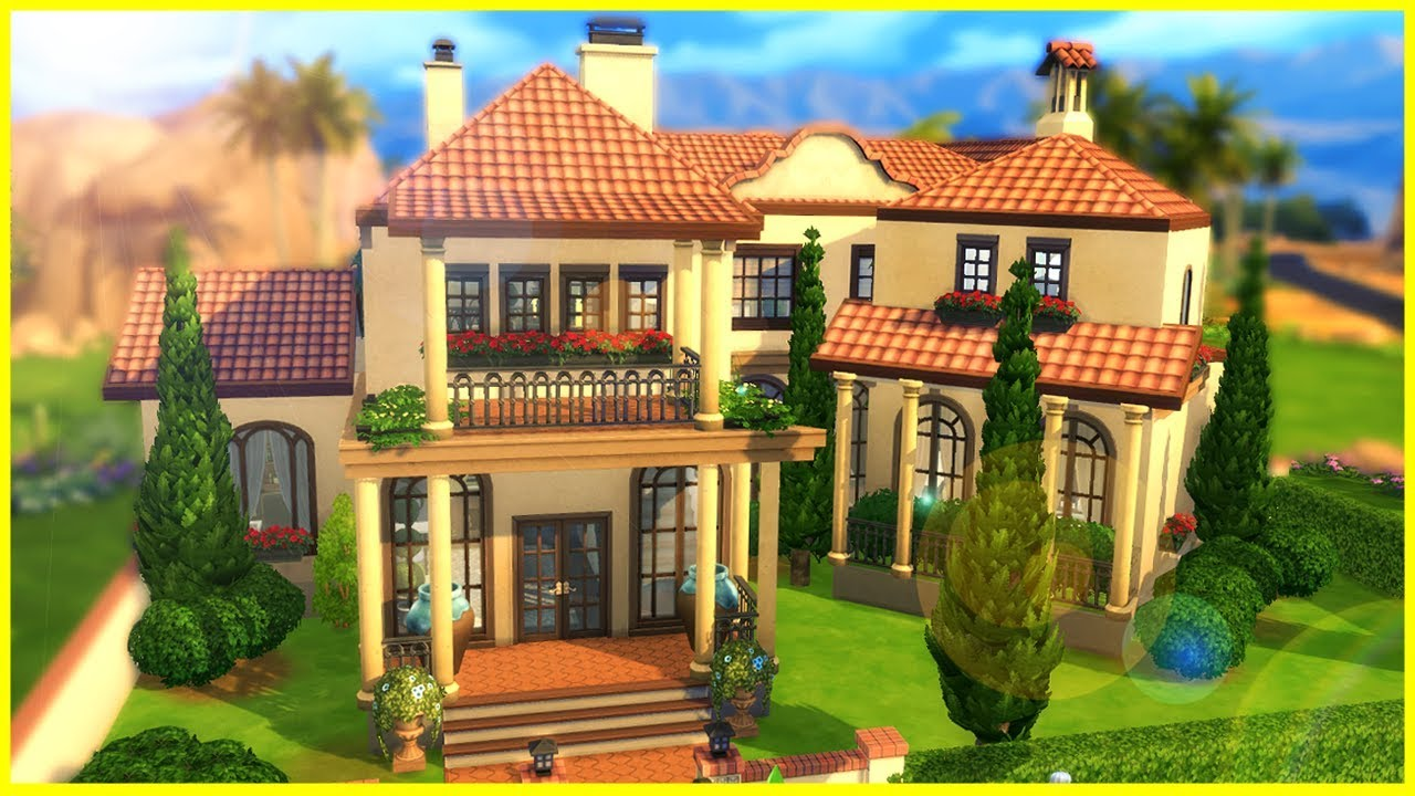 fancy spanish home the sims 4 house building youtube. Black Bedroom Furniture Sets. Home Design Ideas