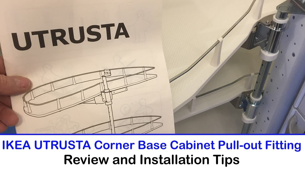Ikea Utrusta Corner Base Cabinet Pull Out Fitting Review Fitting Tips Youtube