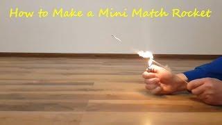 How to Make a Mini Match Rocket DIY
