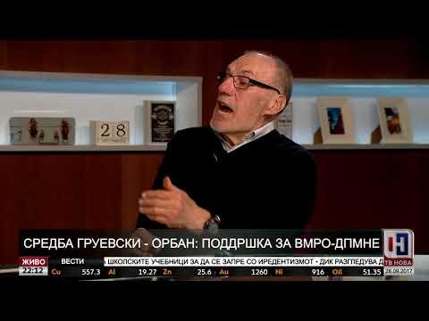 Ристо Никовски гостин во вестите на ТВ Нова