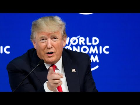 Trump is booed at Davos as he takes swipe at media