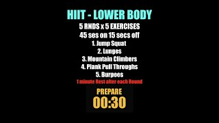 Week 15   HIIT Lower Body
