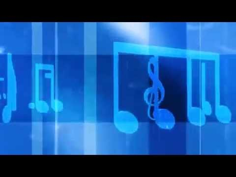 Music Notes and Symbols Carousel Blue Motion Background