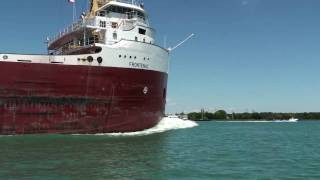 Chasing Great Lake Freighter