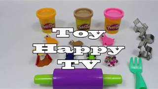 PlayDoh and Kinder Joy Chocolate Toy with Animal Cookie Mold