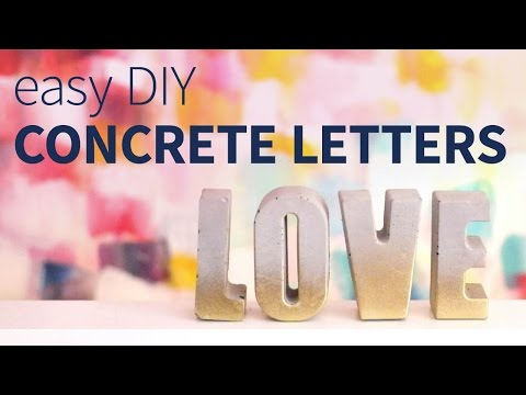 DIY Easy Concrete Letters | How to