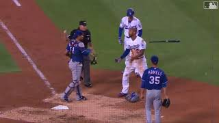 Dodgers Matt Kemp Collides With Catcher as Benches Clear vs. Rangers (6/13/18)