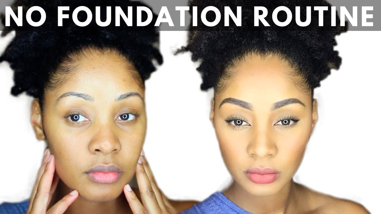 No foundation quick everyday makeup tutorial youtube no foundation quick everyday makeup tutorial baditri Image collections