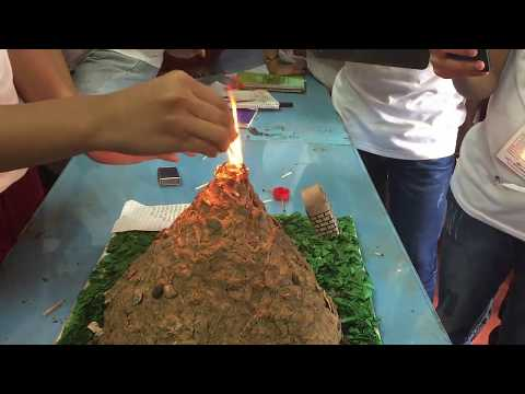 Pyroclastic Flow Effects of Miniature Volcano Project