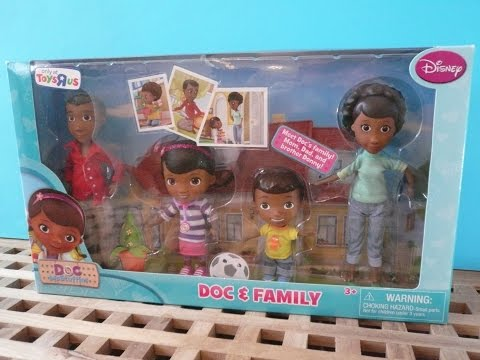 DOC MCSTUFFINS Doc And Family Figures Playset Review Disney Junior Toys R Us Exclusive