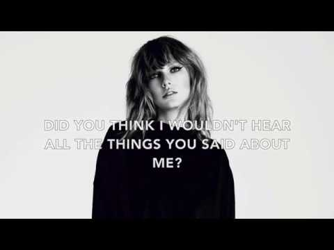 Taylor Swift - This is Why We Can't Have Nice Things [Lyric Video]