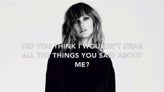 [3.14 MB] Taylor Swift - This is Why We Can't Have Nice Things [Lyric Video] (Cover)