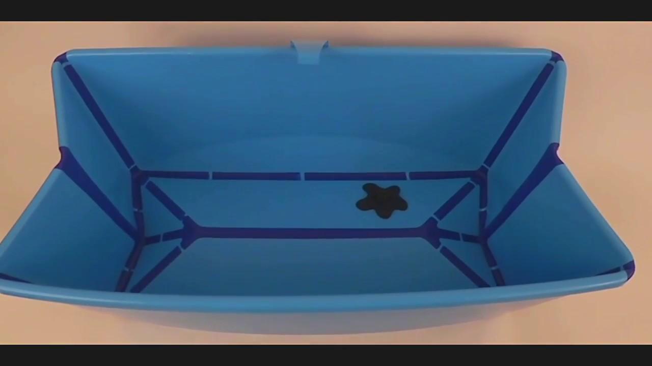 Stokke Foldable Baby Bath - Best Baby Bathtub - YouTube