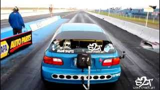 Street2Track Berto's AWD civic get so close to hitting that 8 sec pass with a 9.08 at 146