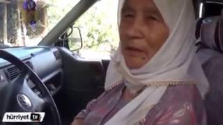 70 yaşındaki kadın araba ile drift yapıyo