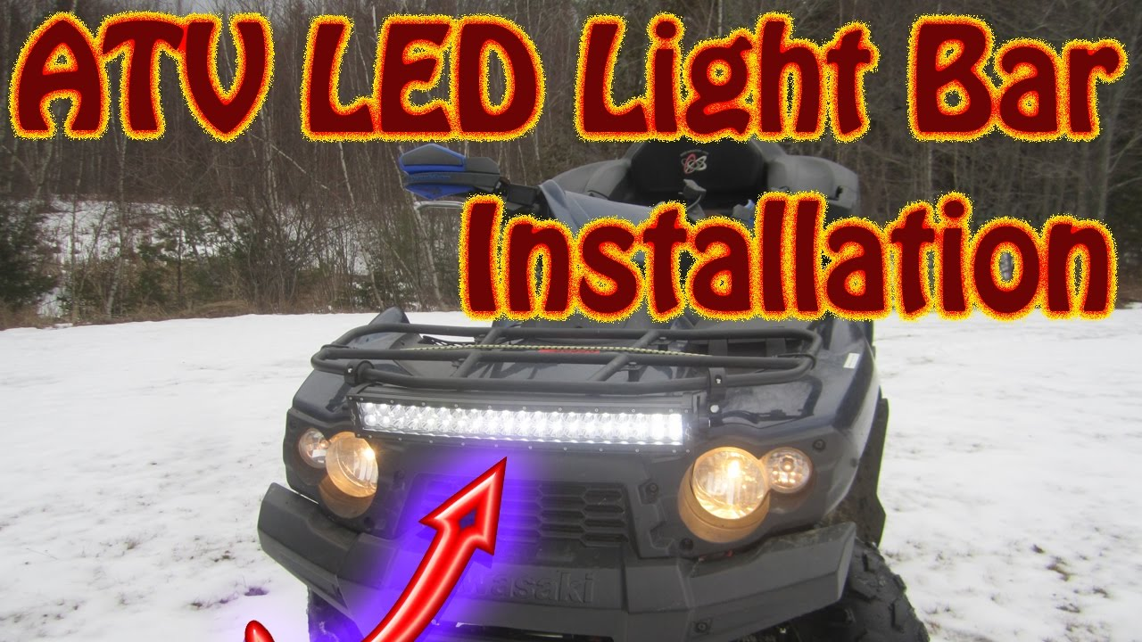 Diy how to mount a mictuning 22 led light bar on a kawasaki brute diy how to mount a mictuning 22 led light bar on a kawasaki brute force atv light bar install youtube aloadofball Image collections