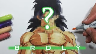 How To Draw Broly! NEW DESIGN! - Step By Step Tutorial!