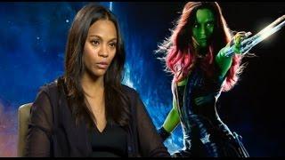 Zoe Saldana publica vídeo mostrando sua transformação em Gamora
